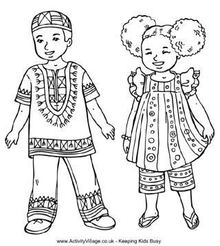 african girl coloring pages at getcolorings free