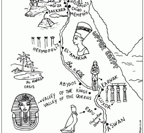 ancient egypt map coloring pages chronicles network