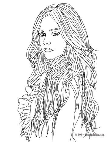 avril lavigne coloring page more famous people coloring