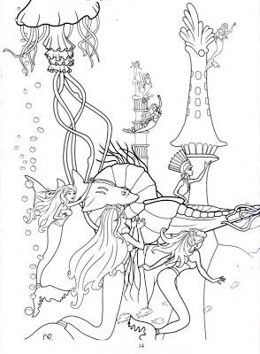 barbie in a mermaid tale printable coloring pages