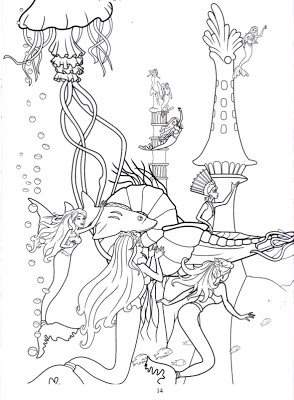 barbie in a mermaid tale printable coloring pages