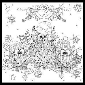 caroling owls owl coloring pages doodle coloring