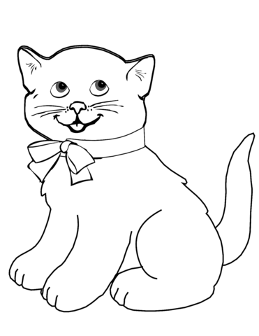 cartoon kitten coloring page free printable coloring pages
