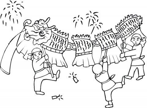 chinese new year coloring pages june 2010