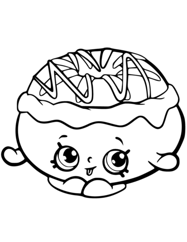 chrissy cream shopkin coloring page free printable