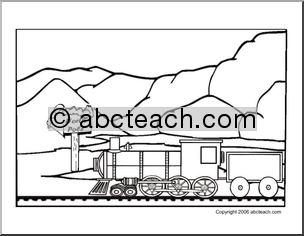 coloring page polar express train abcteach