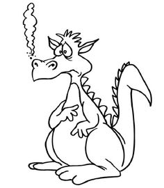 coloring pages cute dragon coloring pages printable