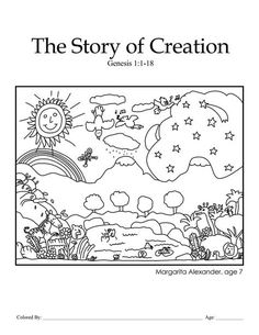 days of creation printable coloring sheets new crafts on