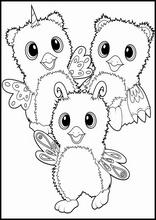 dibujos para colorear hatchimals