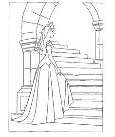 disney princess sleeping beauty aurora colouring pages