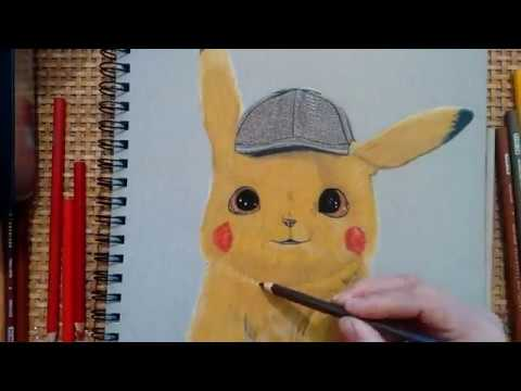 drawing detective pikachu youtube