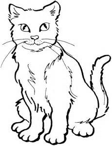 easy cat face coloring coloring pages cat coloring page