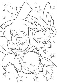 eevee and pikachu coloring pages at getdrawings free