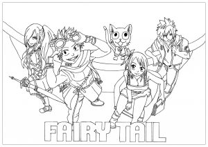 fairy tail free printable coloring pages for kids