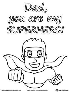fathers day card you are my superhero fathers day