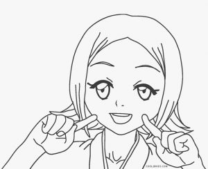 free printable anime coloring pages for kids