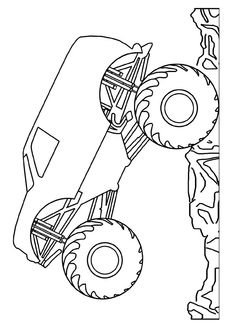 grave digger monster truck coloring pages at getcolorings