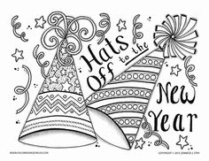 happy new year coloring new years crafts and ideas