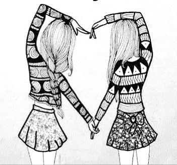 heart of best friends best friend drawings bff drawings