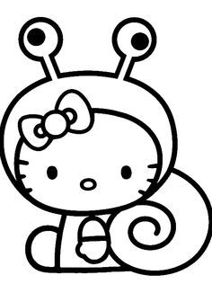 hello kitty costume snails hello kitty colouring pages