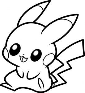how to draw ba pikachu step 7 pikachu coloring page