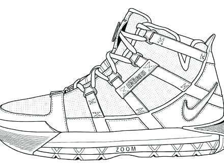 kd shoes coloring pages at getdrawings free download