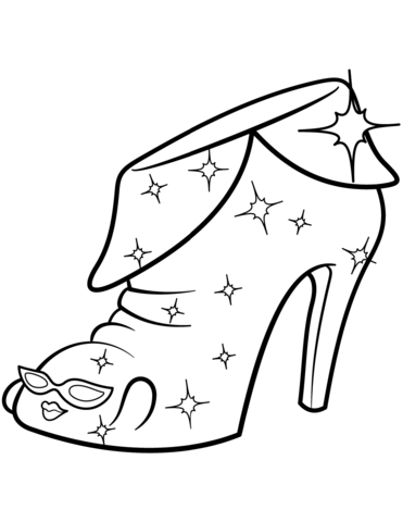 limited edition angie ankle boot shopkin coloring page