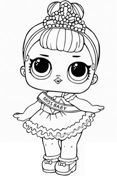 little lids siobhan lol doll colouring pages omalovnky