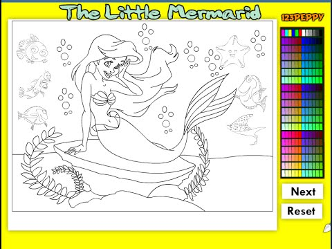 little mermaid coloring pages for kids little mermaid