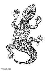 lizard coloring pages free to print portale bambini