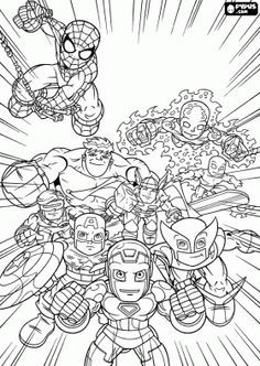 marvel superheroes super hero squad coloring page