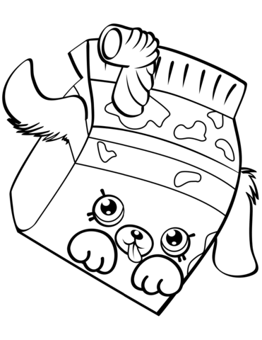 milk bud shopkin mlarbok shopkins colouring pages
