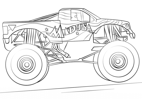 monster truck prowler coloring page free coloring pages