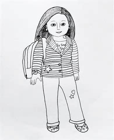 my american girl coloring pages