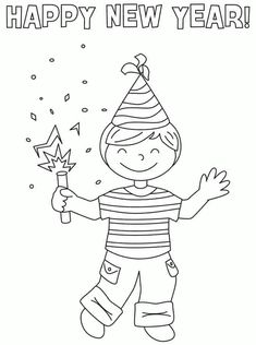 new years coloring pages new years eve coloring sheets