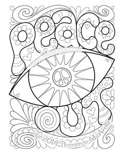 peace and love coloring pages my peace sign art coloring