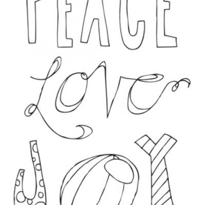 peace love joy free printable poster christmas coloring