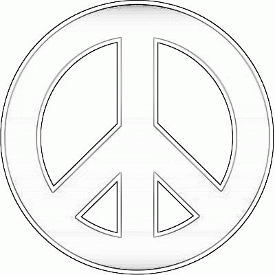 peace sign coloring sheets for kids peace sign coloring