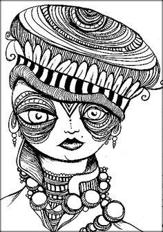 pen and ink human skull shintosun on deviantart
