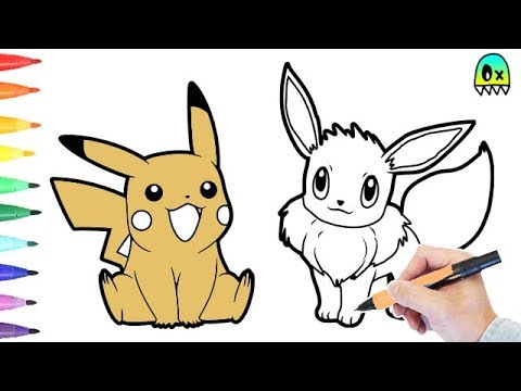 pokemon coloring pages pikachu and eevee colouring book