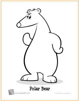 polar bear free printable coloring page