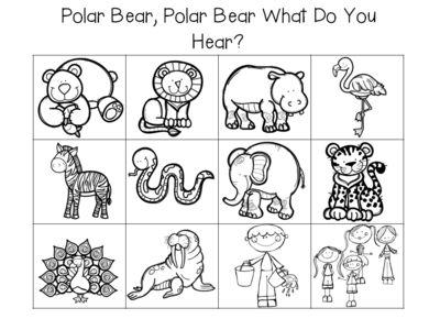 polar bear polar bear what do you hear activities from