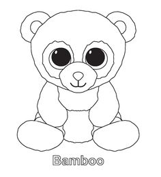 print midnight beanie boo coloring pages embroidery