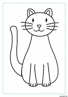 printable cat coloring pages for kids easy quilting