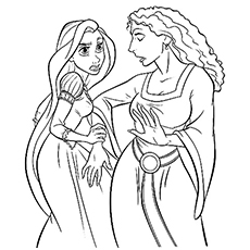 rapunzel coloring pages pdf at getcolorings free