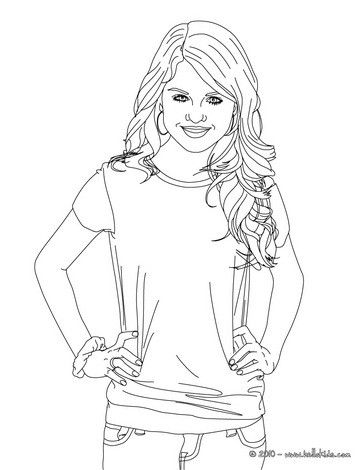 selena gomez actress coloring page more selena gomes