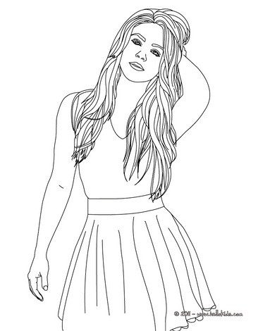 shakira coloring pages hellokids