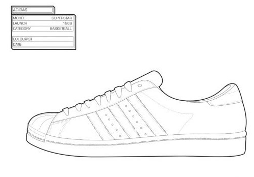 sneaker coloring book shoe design sketches painted