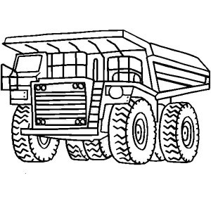 super dump truck on mining site coloring page kids play