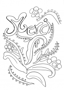 thank you free printable coloring pages for kids